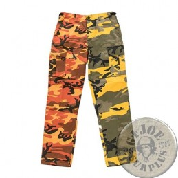 BDU TWO-TONE CARGO TROUSERS /YELLOW-ORANGE CAMO