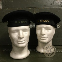 "2 ""PORK PIE HATS US NAVY WWII! SET /UNIQUE PIECES SET"