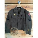 """COLLECTORS ITEM /IKE JACKET US ARMY WWII """"ADSEC"""""""