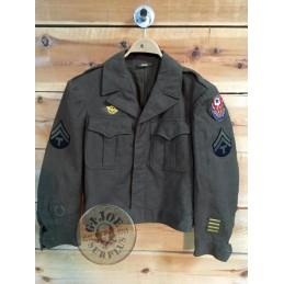 "CHAQUETA DE TROPA ""IKE"" US ARMY WWII"" ADSEC TALLA 34S""/PIEZA UNICA"