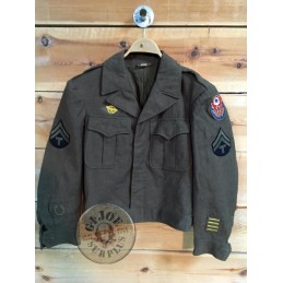 "COLLECTORS ITEM /IKE JACKET US ARMY WWII ""ADSEC"""