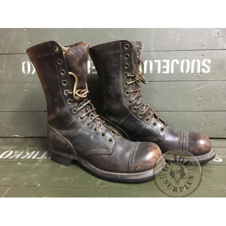 """US ARMY WWII GENUINE """"CORCORAN JUMP BOOTS"""" SIZE 7C /UNIQUE PIECE"""