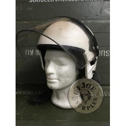GERMAN POLICE RIOT HELMETS USED
