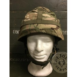 "MTP CAMO COVERS FOR THE BRITISH ARMY KEVLAR HELMET ""MK7"" USED"