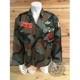 COLLECTROS ITEM!!! USMC SOUTH KOREA EGGSHELL CAMO JACKET WITH INSIGNIA