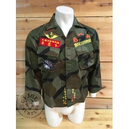 COLLECTORS ITEM!!! USMC SOUTH KOREA EGGSHELL CAMO JACKET WITH INSIGNIA