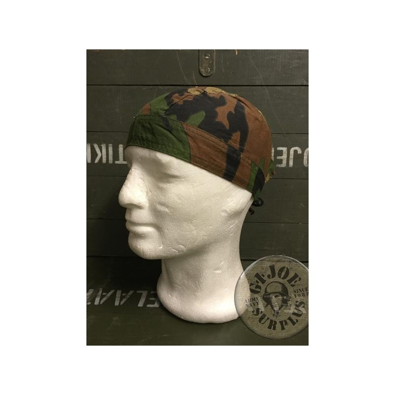 COTTON BANDANA WOODLAND CAMO