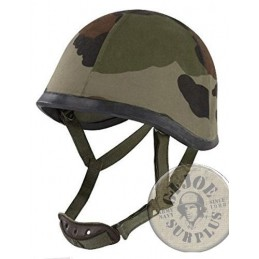 HELMET COVER IN CEE CAMO FOR THE FRENCH ARMY F1 IRON HELMET