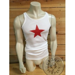 ORIGINAL ARMY TANK TOPS WITH PRINT ON /RED STAR