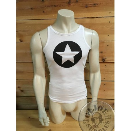 ORIGINAL ARMY TANK TOPS WITH PRINT ON /BLACK STAR