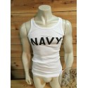 ORIGINAL ARMY TANK TOPS WITH PRINT ON /NAVY