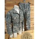 "US ARMY ""HELICOPTERS CAC"" SET AT DIGITAL CAMO USED TROUSERS+JACKET"
