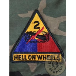 US ARMY GENUINE EMBRODERY PATCH /2on ARMORED DIVISION HELL ON WHEELS