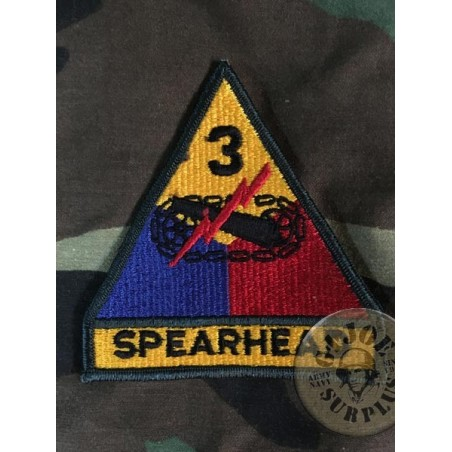 US ARMY GENUINE EMBRODERY PATCH /3rd ARMORED DIVISION SPEARHEAD
