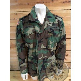 "CHAQUETA M65 US ARMY WOODLAND ""1ST ARMORED DIVISION OLD IRONSIDES"" MEDIUM LONG+FORRO/PIEZA UNICA"