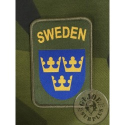 "SWEDISH ARMY VELCRO ""SWEDEN"" PATCH"
