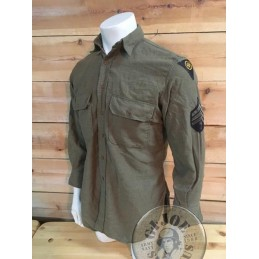 "US ARMY WWII FLANELL SHIRT ""83rd INFANTRY DIVISION SERGEANT"" AS NEW /COLLECTORS ITEM"