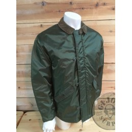 "CHAQUETA IMPERMEABLE US ARMY ""COLD WEATHER BARBOUR"" LARGE USADA /PIEZA ÚNICA"