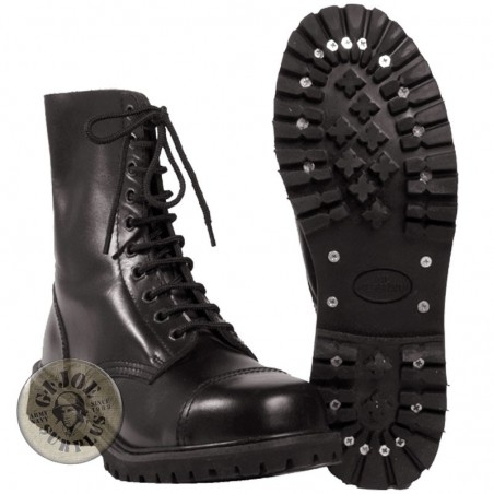 """INVADER"" LEATHER 10 HOLES BOOT"