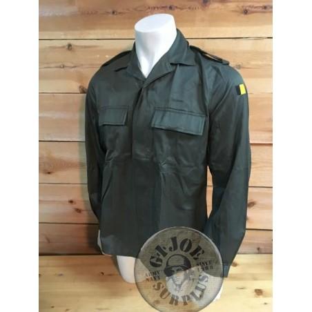 BELGIUM ARMY LS GREEN COMBAT SHIRT NEW
