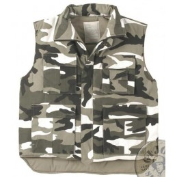 WINTER PADDED VEST URBAN CAMO