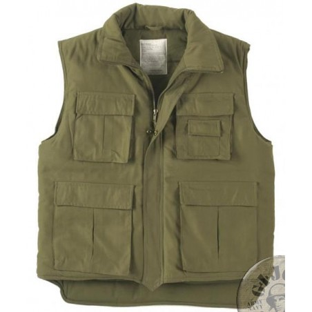 WINTER PADDED VEST GREEN COLOUR