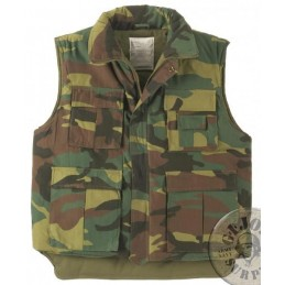 WINTER PADDED VEST WOODLAND CAMO