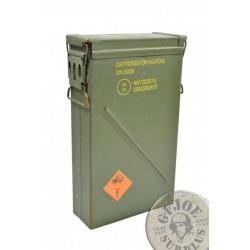 """CAJA METALICA MUNICION ESTANCA GRANDE """"36X14,5X58cms CM6B US ARMY"""" USADAS"""