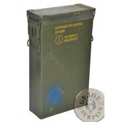 """CAJA METALICA MUNICION ESTANCA GRANDE """"36X14,5X74cms CM6A US ARMY"""" USADAS"""