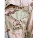 """M65 JACKET US NAVY DESERT 3 COLOURS """"SEABEES"""" SMALL REGULAR /COLLECTORS ITEM"""