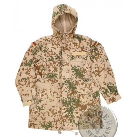 GERMAN ARMY TROPENTARN CAMO PARKA WITHOUT LINER NEW/AS NEW
