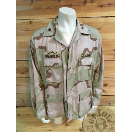 US ARMY 1991 GULF WAR US ARMY MEDIC LIUTENANT CORONEL DESERT 3 COLORS BDU JACKET /UNIQUE PIECE