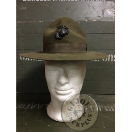 USMC WARRANT OFFICERS MONTANA HAT WITH INSIGNIA USED
