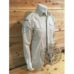 BRITISH ARMY LONG SLEEVE EVERY DAY SHIRTS WITH UNIT PATCHES