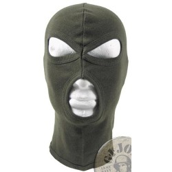 "3 HOLE BALACLAVA ""AGRESSIVE"" 100% COTTON GREEN"