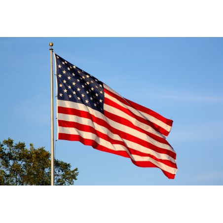 """US COTTON FLAGS """"MADE IN USA 1.5X3M"""" NEW"""