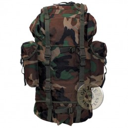 "RUCKSACK 65 LITERS ""GERMAN ARMY MODEL"" WOODLAND CAMO"