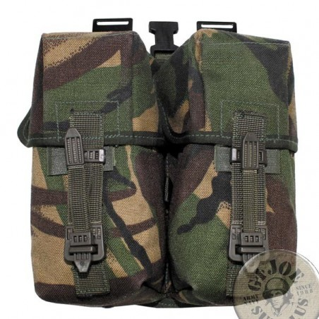 BRITISH ARMY PLCE DPM CAMO COMBAT SYSTEM /AMMO DOUBLE POUCH SA80