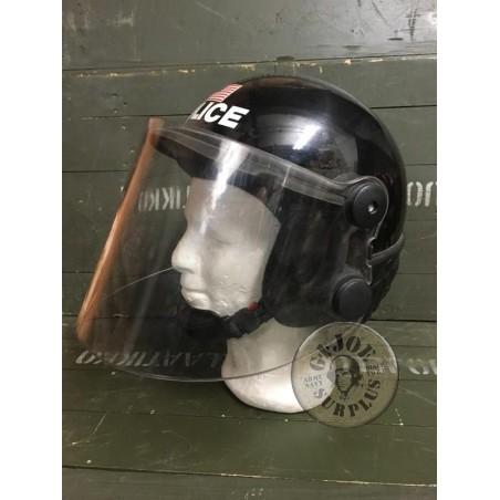 US NORTH CAROLINA POLICE RIOT HELMET USED GREAT CONDITION /UNIQUE PIECE