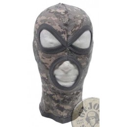 "3 HOLE BALACLAVA ""AGRESSIVE"" 100% COTTON DIGITAL AT CAMO"