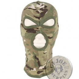 "3 HOLE BALACLAVA ""AGRESSIVE"" 100% COTTON DIGITAL MULTICAM"
