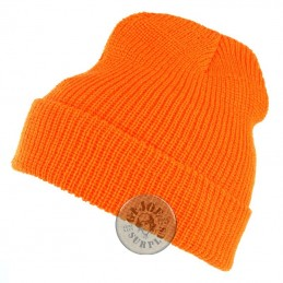 WATCH CAP ACRILIC NAVY ORANGE COLOUR