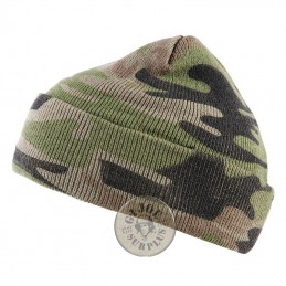 "ACRILIC WATCH CAP ""FINE"" CAMO COLOUR"