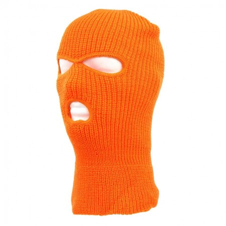 BALACLAVA 3-HOLE ACRILIC ORANGE COLOUR