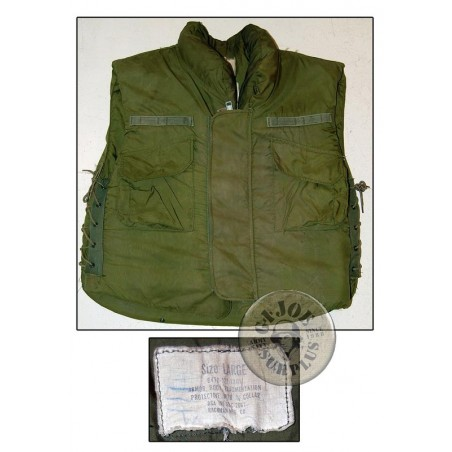 US ARMY M1969 FRAG VEST SIZE LARGE USED /COLLECTORS ITEM