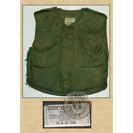 US ARMY M1952 FRAG VEST SIZE LARGE USED /COLLECTORS ITEM