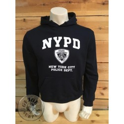 COTTON HOOD SWEATSHIRT NYPD NEW YORK POLICE DEPARTMENT