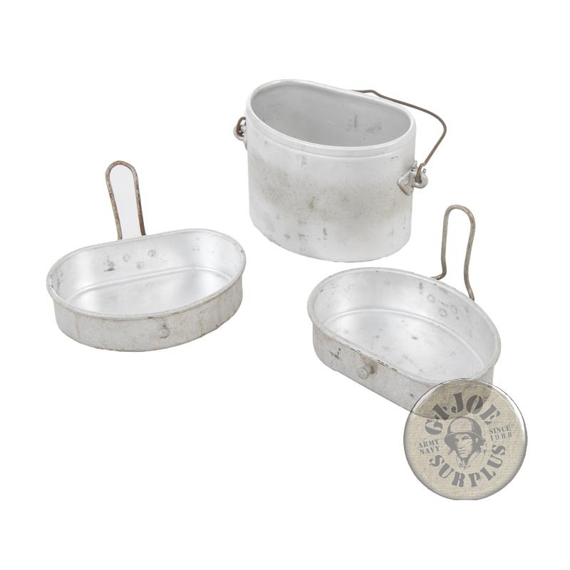 ITALIAN ARMY VINTAGE 3 PIECES MESS KIT AS NEW
