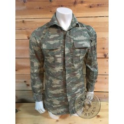 TURKEY ARMY DIGITAL CAMO COMBAT SHIRT USED CONDITION