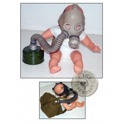 "SOVIET UNION GAS MASKS ""PDF BABYS UNDER 4 YEARS"" COMPLETE AND NEW"